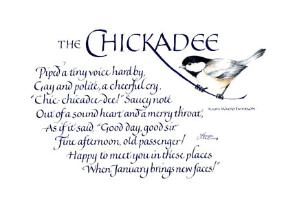 chicadee by Ralph Waldo Emerson