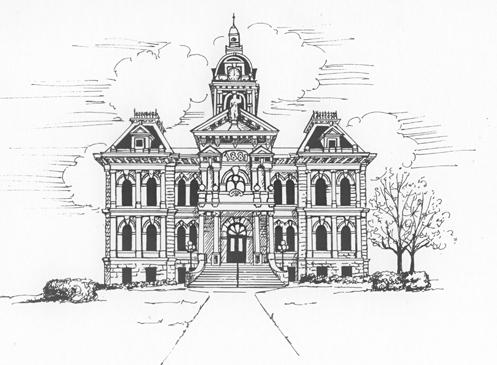 pen & ink courthouse