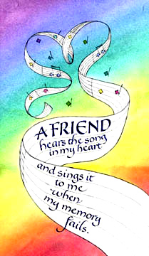 friend- hears- song